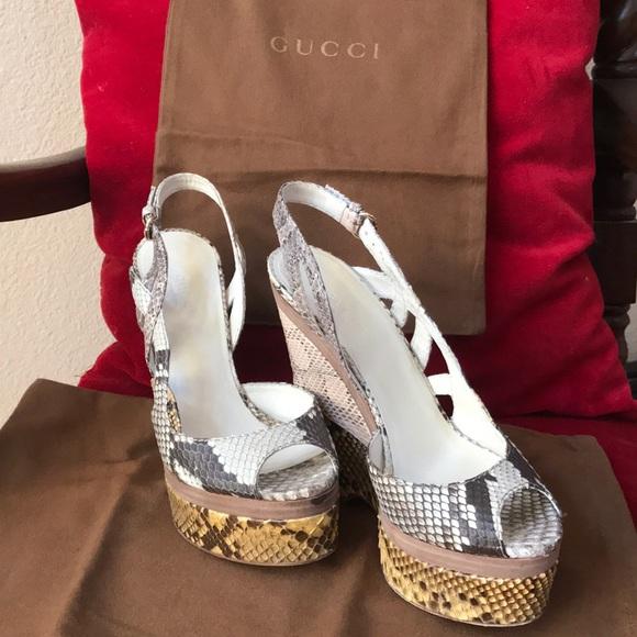 538c6477852 Gucci Shoes - Gucci sneak  python platform shoes